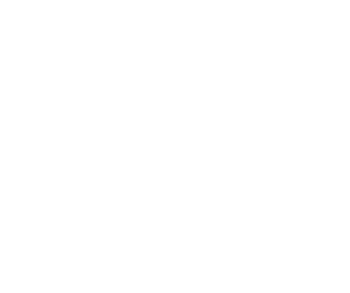 Office of Special Education Programs logo in white colors on a black background.