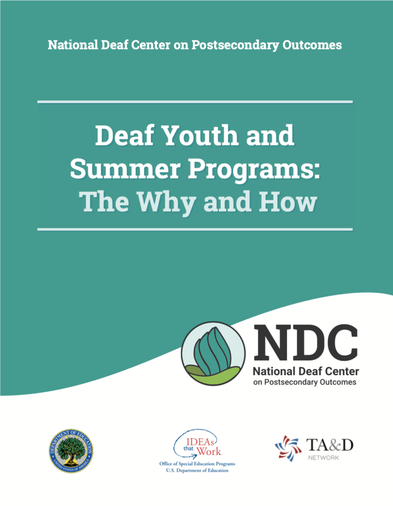 Deaf Youth and Summer Programs: The Why and How cover page.