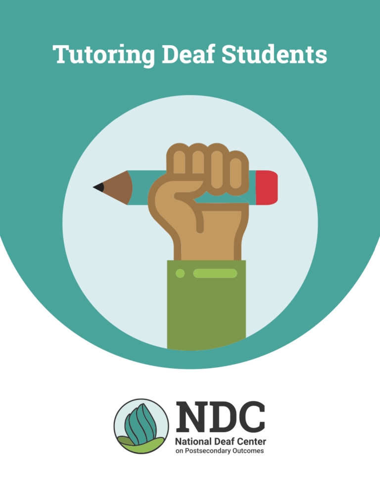 Tutoring Deaf Students publication cover.